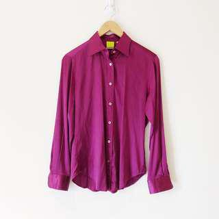 Craig Taylor Magenta Satin Button Down Shirt