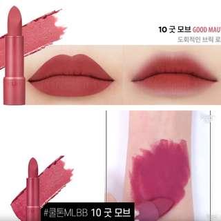 (INSTOCK) CLIO Rouge Heel Velvet Lipstick #GOOD MAUVE