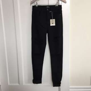 New Dotti ripped jeans size 8