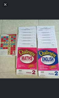 Assessment Books for P2 maths and English .