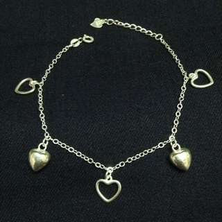 Full and Open Hearts 925 Silver Bracelet