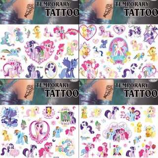 Pony tattoo (4 in set)