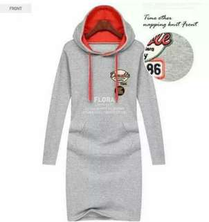 Patches Hoodie Dress