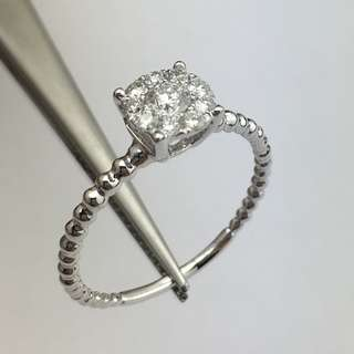 18K白金戒指 33份鑽石 18K Withe gold Ring 0.33ct Diamond 可議價