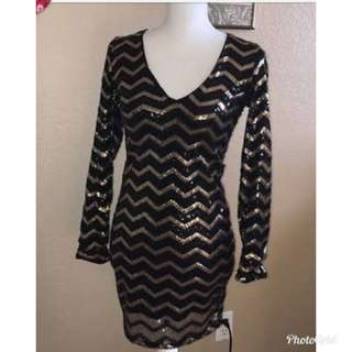 Gold and black sequence dress (free sf mm)