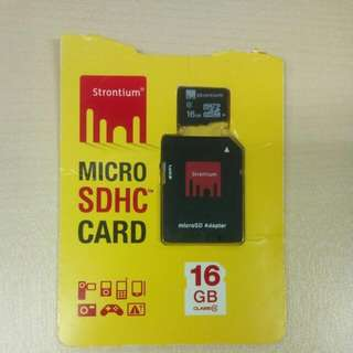Strontium 16GB micro SD Class 10 card with card reader for Laptop