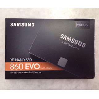 "BNIB 500GB 860 EVO 2.5"" SATA Samsung SSD Solid State Drive Hard Disk PC Computer Laptop (New model after EVO 850)"