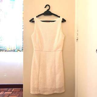Boutique Cream Sequin Dress