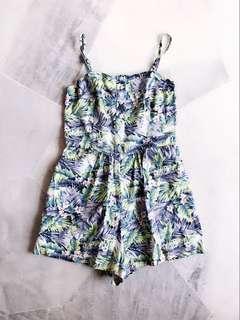 Green Floral Jumpsuit / Romper #July70