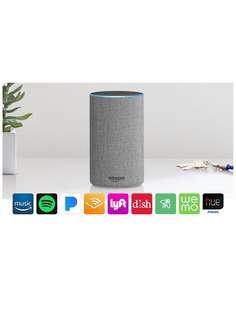 Echo 2nd Generation, smart speaker with Alexa - Heather Gray / Sandstone Fabric