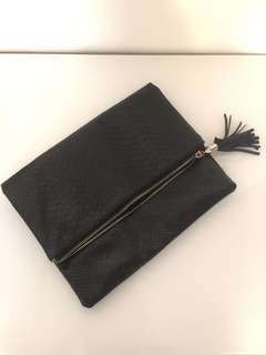 Women black clutch
