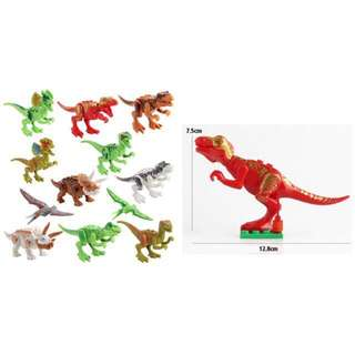 Dinosaur Lego ~ 12 designs in a set in simple bag