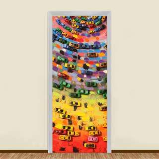 🚚 CARS POOL RESIDENTIAL DOOR ART