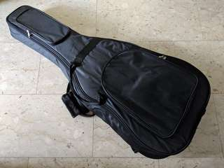 High quality Black Padded Soft Case Bag for Classical Guitar or Acoustic for Protection Storage Comfortable Brand New