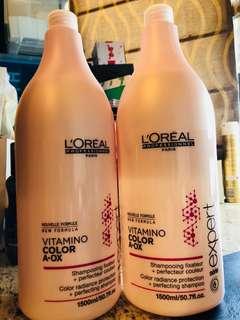 <1500ml大容量裝> 最好用鎖色洗頭水之一 L'oreal VITAMINO color radiance protection shampoo