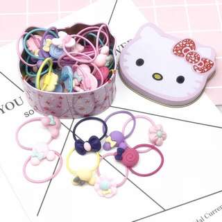 Hello kitty container with hair band