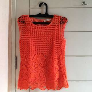 #maudecay Orange Blouse