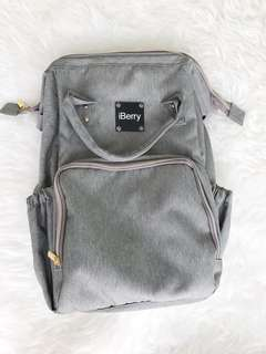 (NEW) Tas diaper bag iBerry Gray