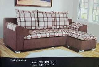 Ansuran murah sofa L-shape model - 6696