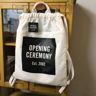 OPENING CEREMONY White Snow Drawstring Backpack