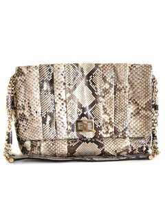 (NEGO TIL GO) ANYA HINDMARCH Python Leather Handbag #July70