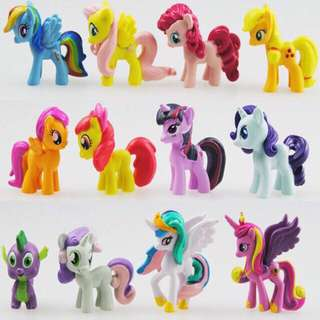 My Little Pony Figurines (12 in a set)
