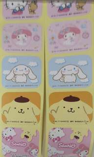 Sanrio 貼紙 布甸狗  hello kitty my melody cinnamoroll 大耳狗 stickers 1條5個 每條5蚊 包郵