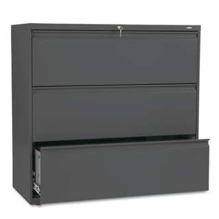 🗄️ 3 Layer Lateral Filing Cabinet 42-Inch-Wide in Charcoal