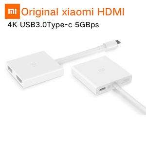 Authentic Xiaomi Mi High-Speed Type-C USB-C To 5Gbps Type C To USB HDMI Conversion Adapter 4K HD Decodes power supply up to 70W Hub