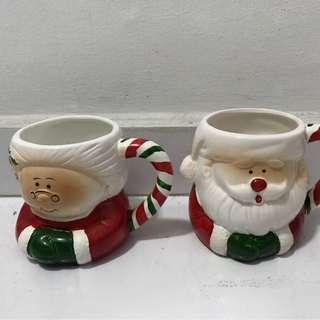 Vintage Furama Hotel Christmas Cups
