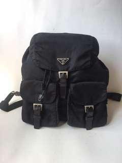 Authentic Prad Tessuto Nylon Backpack Medium