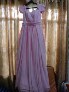 SALE Pink long gown