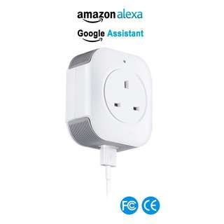 1403. WiFi Smart Plug, LADUO Mini Wireless Smart Socket Outlet Works With Amazon Alexa and Google Home, USB Port, Timing Function, Remote Control Your Devices Anywhere, No Hub Required