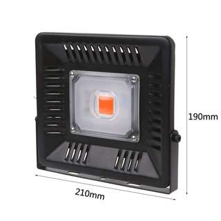 969. 50W LED Plant Light Full Spectrum Grow Chip Broad for Hydroponic Flowers (AC 170-265V) light, slim, compact