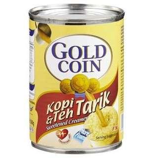 Harga Borong - Susu Goldcoin pekat manis 48 tin