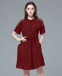 💋DRAWSTRING POLO DRESS💋