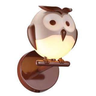Kids Lighting Owl Single Wall Lamp KD16020-1A