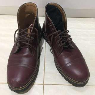Sepatu boot kulit original