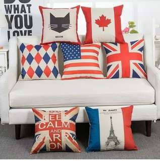 Sarung Bantal Keep Calm Canada USA France