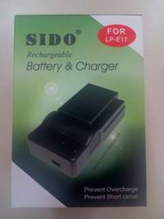 全新 SIDO LP-E17 Battery and Charger 電連差座