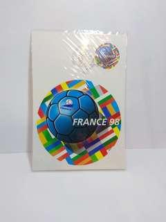 慶祝法國2018年世界盃相隔20後再奪冠軍!1998年世足郵票明信片
