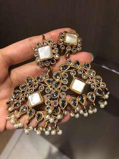 Semi precious Indian earrings