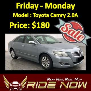 $180 Toyota Camry 2.0A Weekend SALE