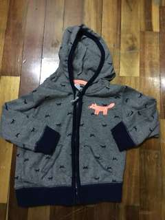 Baby boy soft cotton hooded jacket (6-9 months)
