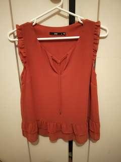Sportsgirl rust colour top