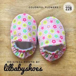 228 - Sepatu Bayi Prewalker Baby Shoes motif Bunga