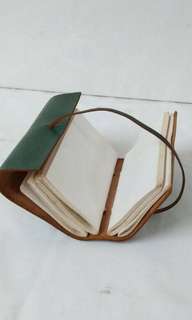 Leather genuine notebook