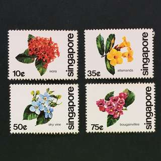 Singapore 1980 Flowers full set of 4v MnH