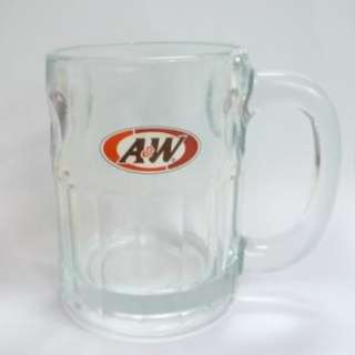 "A&W Vintage GLASS CUP / MUG - 4.5"" Tall More Than The Usual Singapore Restaurant"