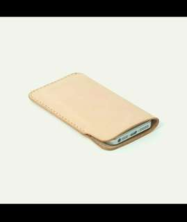 Natural Leather Case Phone